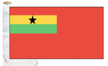 Ghana Civil Ensign 1963 to 2003 Courtesy Boat Flags (Roped and Toggled)